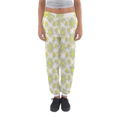 Another Supporting Tulip Flower Floral Yellow Gray Women s Jogger Sweatpants