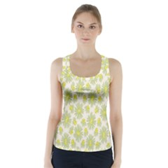 Another Supporting Tulip Flower Floral Yellow Gray Racer Back Sports Top