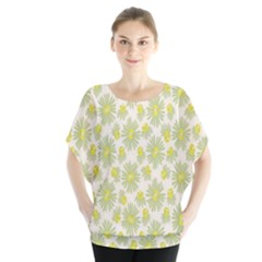 Another Supporting Tulip Flower Floral Yellow Gray Blouse
