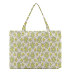 Another Supporting Tulip Flower Floral Yellow Gray Medium Tote Bag