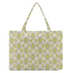 Another Supporting Tulip Flower Floral Yellow Gray Medium Zipper Tote Bag