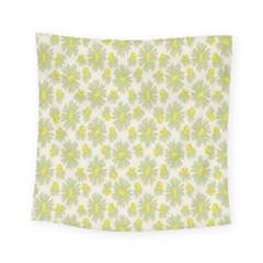 Another Supporting Tulip Flower Floral Yellow Gray Square Tapestry (small)