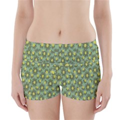 Another Supporting Tulip Flower Floral Yellow Gray Green Boyleg Bikini Wrap Bottoms