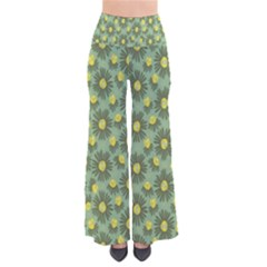 Another Supporting Tulip Flower Floral Yellow Gray Green Pants