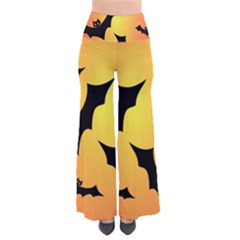 Bats Orange Halloween Illustration Clipart Pants