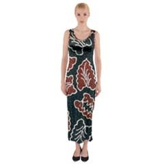 Batik Java Fitted Maxi Dress