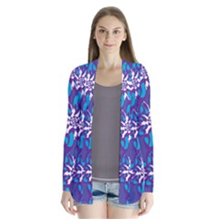 Analogous Blue Flower Cardigans