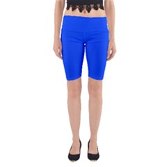 Blue Color Yoga Cropped Leggings