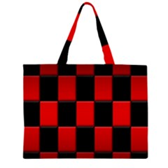 Board Red Black Large Tote Bag