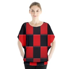 Board Red Black Blouse