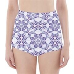 Better Blue Flower High-Waisted Bikini Bottoms