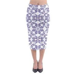 Better Blue Flower Midi Pencil Skirt
