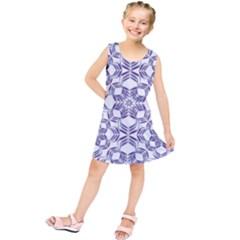 Better Blue Flower Kids  Tunic Dress