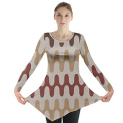 Bullard Line Fabric Chevron Wave Long Sleeve Tunic