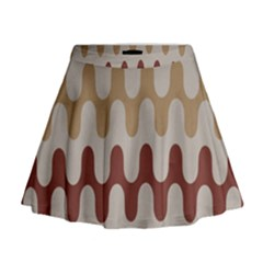 Bullard Line Fabric Chevron Wave Mini Flare Skirt
