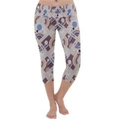 Brown Capri Yoga Leggings