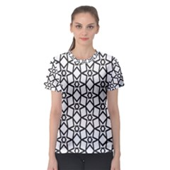 Coloring Squares Star Women s Sport Mesh Tee