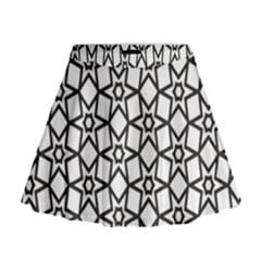 Coloring Squares Star Mini Flare Skirt