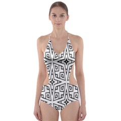 Coloring Star Squarest Cut-Out One Piece Swimsuit