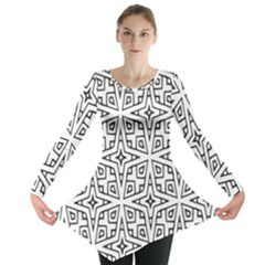Coloring Star Squarest Long Sleeve Tunic