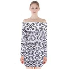 Coloring Star Squarest Long Sleeve Off Shoulder Dress