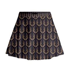 Deer Antlers Mini Flare Skirt