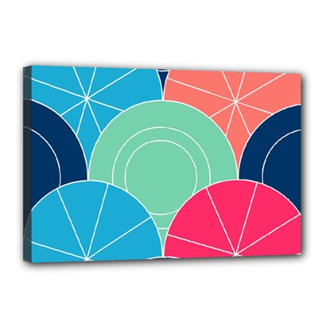 Diagonal Color Way Canvas 18  X 12