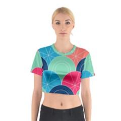 Diagonal Color Way Cotton Crop Top