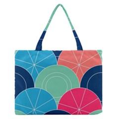 Diagonal Color Way Medium Zipper Tote Bag