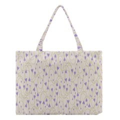 Flower Purple Medium Tote Bag