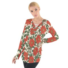 Flower Women s Tie Up Tee