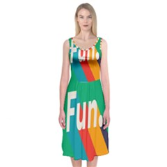 Fun Midi Sleeveless Dress