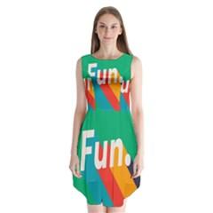 Fun Sleeveless Chiffon Dress