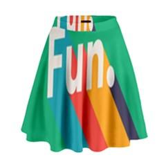 Fun High Waist Skirt