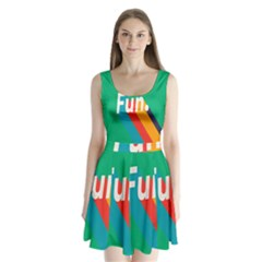 Fun Split Back Mini Dress