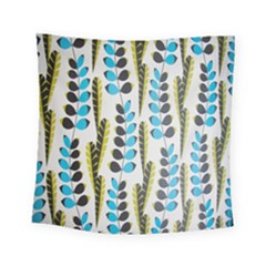 Flower Blue Square Tapestry (small)