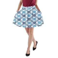 Geometri Flower A-Line Pocket Skirt