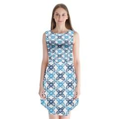 Geometri Flower Sleeveless Chiffon Dress
