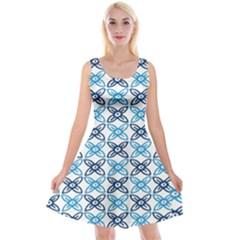 Geometri Flower Reversible Velvet Sleeveless Dress