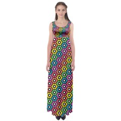 Geometric Pattern Single Page Empire Waist Maxi Dress