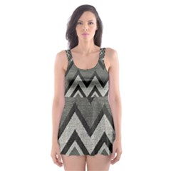 Geometric Home Decor Fabric Skater Dress Swimsuit