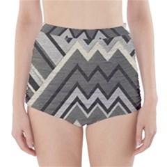Geometric Home Decor Fabric High-Waisted Bikini Bottoms