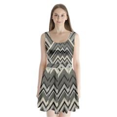 Geometric Home Decor Fabric Split Back Mini Dress