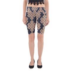 Geometric Cut Velvet Drapery Upholstery Fabric Yoga Cropped Leggings