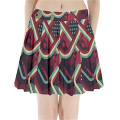 Illustration Pleated Mini Skirt