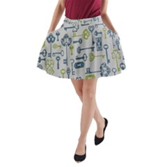 Key A-Line Pocket Skirt