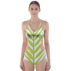 Leaf Coconut Cut-Out One Piece Swimsuit