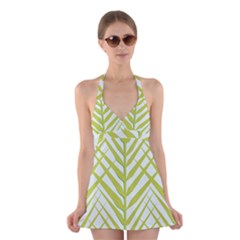 Leaf Coconut Halter Swimsuit Dress