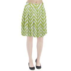 Leaf Coconut Pleated Skirt