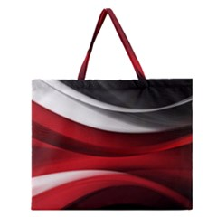 Lines Red Zipper Large Tote Bag